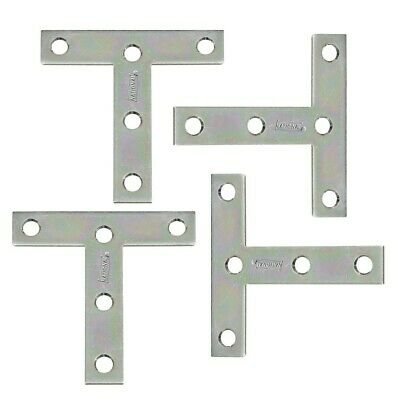 "National N226-654 3"" By 3"" Zinc Plated Steel T Plate Pack Of 2"