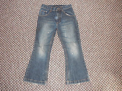 "Denim Bootcut Jeans Waist 24"" Leg 20"" Faded Dark Blue Boys 7Yrs Jeans"