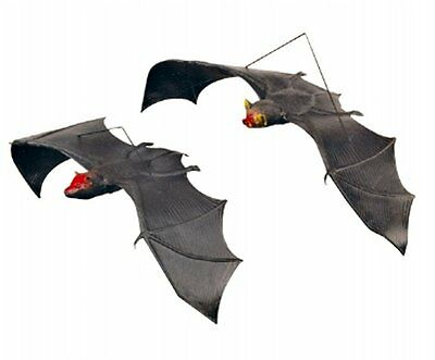 Scary Hanging Bat - Rubber Halloween Decoration- Includes Hanging Cord