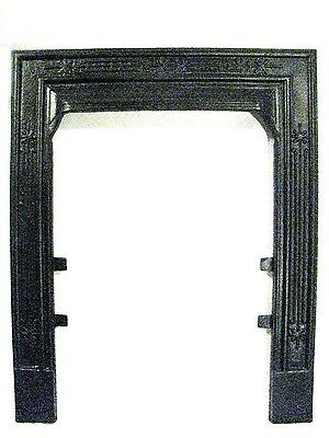 Antique Victorian Cast Iron Ribbed Sparkle 16 40 Fireplace Door Frame Surround