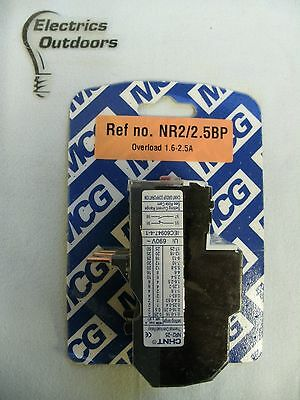Chint Thermal Overload Relay 1.6 2.5 Amp Nr2-25 Iec 60947