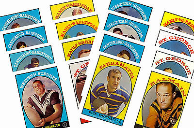Nrl Rugby League (1968) - Gum Card/ Postcard Set # 1