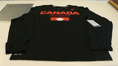 Team Canada 2014 Sochi Olympics Medium Black Legends Hockey LS T Shirt