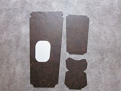 1967-69 firebird console wood grain trim for models with a 4 speed transmission