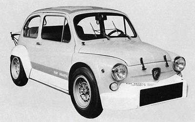 1971 Fiat Abarth 1000 Berlina Corsa Gr 2 Factory Photo J7554