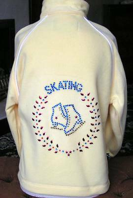 New Ice Skating Dress Fleece Jacket with Stunning Motif - Ages 7-8, 9-10 & 11-12
