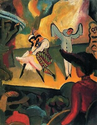 Russian ballet by August Macke Giclee Fine Art Print Reproduction on Canvas