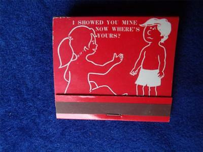 Vintage Joke Matchbook I Showed You Mine ....  Retro Fuuny Gag Mfg Japan