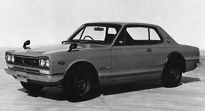 1971 Nissan Skyline 2000GTR Hardtop Factory Photo J7749