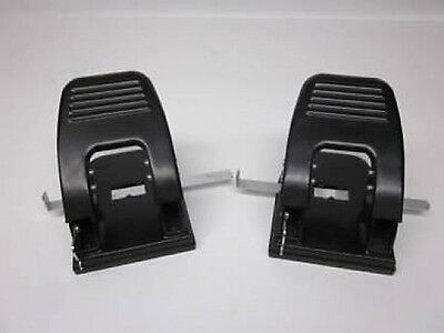 TWO Office Depot Brand 2-Hole Paper Punchs, Black~MODEL  825-307~XLNT CONDITION