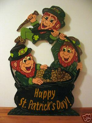 Leprechaun Pot o Gold St. Pat's Day Yard Art Decoration