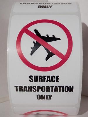 SURFACE TRANSPORTATION ONLY ORM-D  DOT 2x3 Warning Labels Stickers 250/rl
