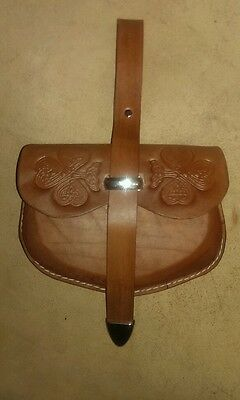 Brown Leather Belt Pouch Sca Larp