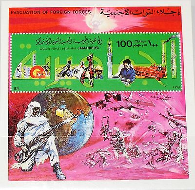 LIBYEN LIBYA 1979 Block 41 Evacuation British US Troops War Krieg Soldiers MNH