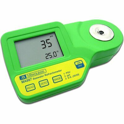 Milwaukee MA887 Digital Refractometer Salinity Meter Sea Salt Water Tester