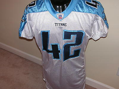 Tennessee Titans Collin Mooney Signed Game Used/worn Jersey #42 Coa From Mma