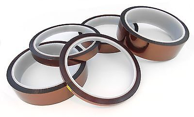 33m 100ft High Temperature Kapton Polyimide Heat Tape - CHOOSE SIZE - UK