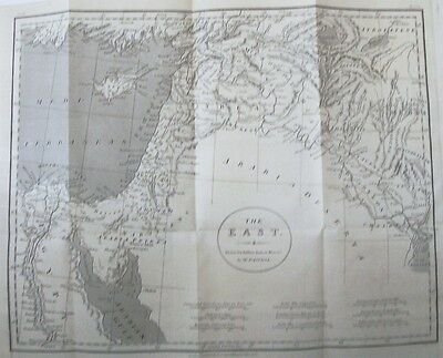 OLD ANTIQUE MAP MIDDLE EAST CYPRUS c1808 by D'ANVILLE for ROLLINS 19th CENTURY