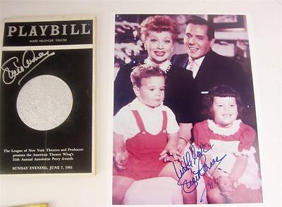Playbill Orig Broadway Lucie Arnaz Signed Tony Awards 1981 + Photo, COA Lucille