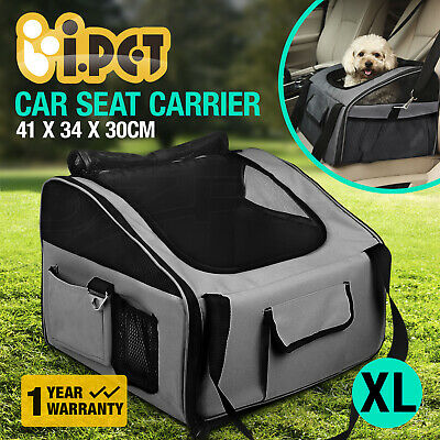 iPET Pet Carrier Cat Dog Car Booster Seat Travel Bag Soft Crate Portable Cage XL