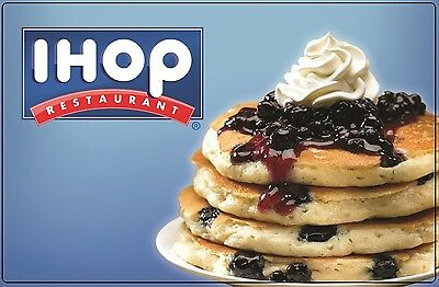 IHOP Gift Card $25/ $50 - Mail delivery