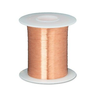"""42 AWG Heavy Enameled Copper Magnet Wire 8 oz 24800' Length 0.0029"""" 155C Natural"""
