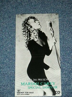 "MARIAH CAREY Japan PROMO Only 1990 Tall 3"" CD Single SPECIAL SAMPLER CALL 266 Pr"