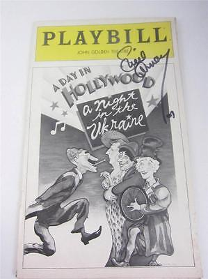 Playbill Orig A Day In Hollywood Night In Ukraine Lucie Arnaz Signed COA Lucille
