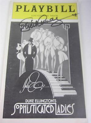 Playbill Orig Broadway Sophisticated Ladies Hines Lucie Arnaz Signed COA Lucille