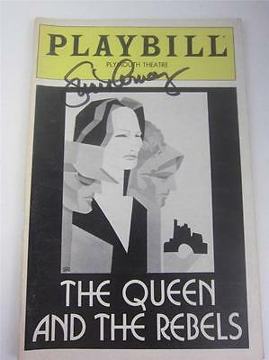 Orig Playbill Queen And The Rebels Opening Night 1982 Signed Lucie COA Lucille