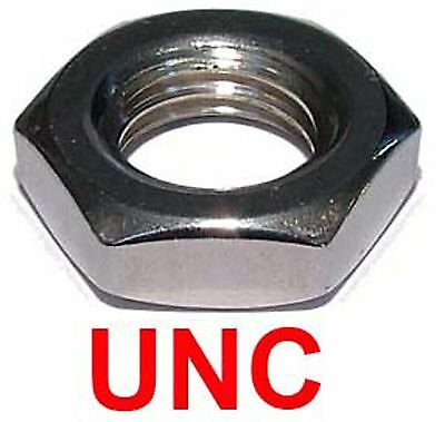 """1/4"""" 20 tpi Stainless Steel UNC Lock Nuts (UNC Thin Nuts / UNC Half Nuts)"""