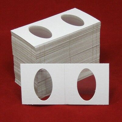 Fifty 50 Elongated 2X2 Cardboard//Mylar Penny Holders Flips for Elongated Coins