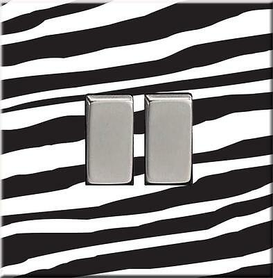 *NEW* Decorative DOUBLE Light Switch Cover ZEBRA PRINT Acrylic NO SCREWS