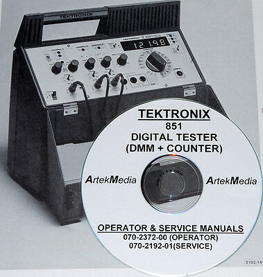 TEKTRONIX  851 Digital Tester Operating & Service Manuals with  Schematics
