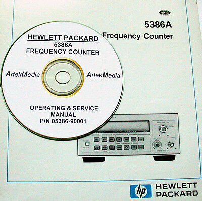 HP Hewlett Packard 5386A FREQUENCY COUNTER Operating & Service Manual