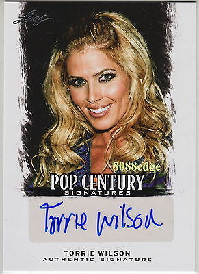 2012 Leaf Pop Century Auto: Torrie Wilson - Autograph Playboy Cover-Wcw/wwe Diva