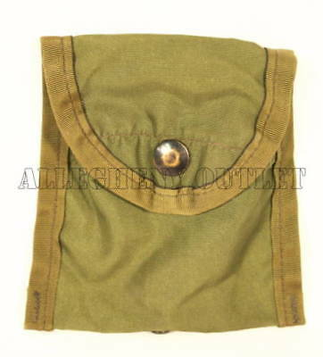 Lot of 2 Army USMC FIRST AID / COMPASS POUCH CARRIER CASE w/ Alice Clip Military