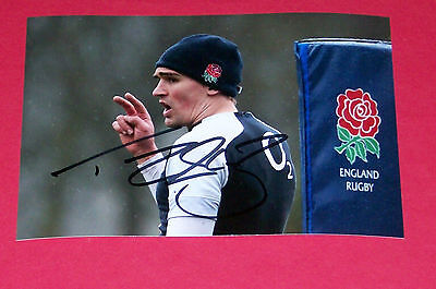 Toby Flood England Rugby Hand Signed Autograph Photo