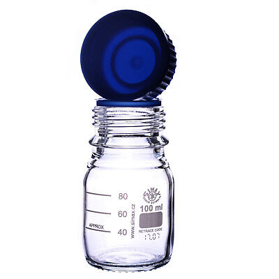 Autoclavable Reagent Bottle With Pouring Cap & Ring - 100Ml - Laboratory Bottle