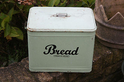Vintage Speckled Green Enamel Bread Bin – Pride O'Home – Kitchenalia – RARE! –