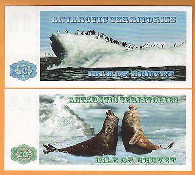 Isle Of Bouvet/norway/antarctic  Lot Of 4 Unc Seria B 2011 Rare Modern Issue!