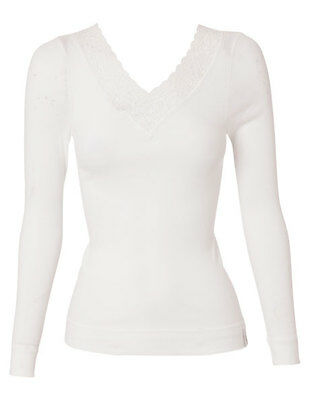 Jockey Thermals Cotton V Neck Long Sleeve size 14 Colour White
