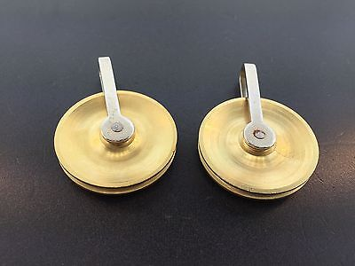 """New Reproduction 1 1/2"""" Diameter Tall Case Clock Pulley Set of 2"""