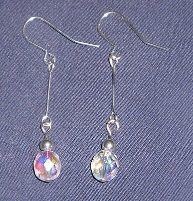 Beautiful Sparkly Crystal Art Deco Style Drop Earrings