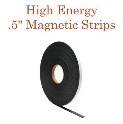"HIGH ENERGY MAGNETIC TAPE w/Adhesive - 1/2"" wide x 10' long"