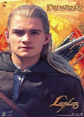 LORD OF THE RINGS MOVIE POSTER ~ TWO TOWERS LEGOLAS PORTRAIT 22x34 Orlando Bloom