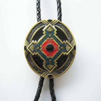 Brand New Native Indian Rodeo Vintage Antique Bronze Western Cowboy Bolo Tie