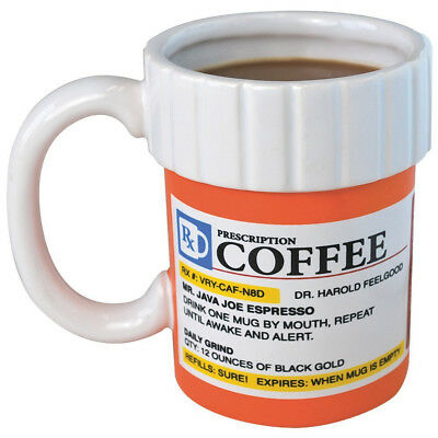 10 Prescription Bottle Bulk 12oz Ceramic Coffee Mug Gift Nurses Doctor Nurse