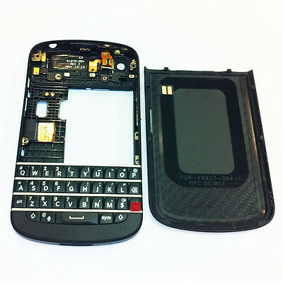 New OEM Black Full Housing Case Cover for Blackberry Q10 Replacement Parts