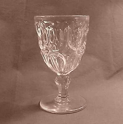 Excelsior Flint Early American Pattern Glass Goblet